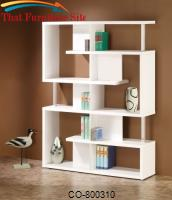 Bookcases Modern White Finish Bookcase by Coaster Furniture