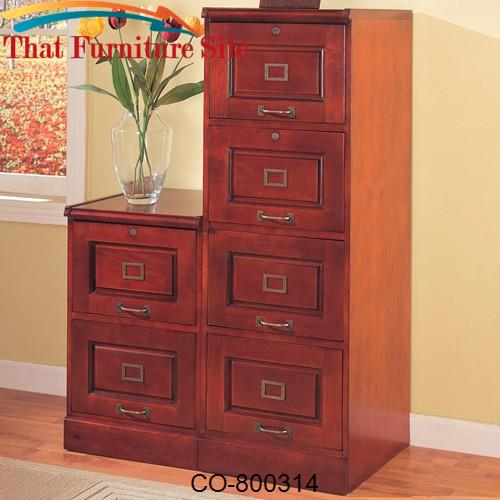 Palmetto Cherry File Cabinet with 4 Drawers by Coaster Furniture  | Au