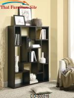 Bookcases Cappuccino Asymmetrical Bookshelf by Coaster Furniture