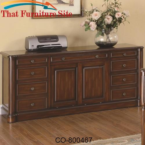 Peterson Nine Drawer Office Credenza with Cabinet by Coaster Furniture