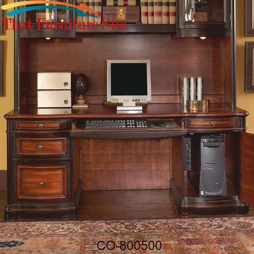Pergola Double Pedestal Kneehole Credenza Desk by Coaster Furniture  |