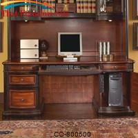 Pergola Double Pedestal Kneehole Credenza Desk by Coaster Furniture