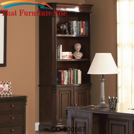 Cherry Valley Traditional Combination Bookcase by Coaster Furniture  |