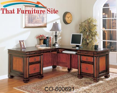 Chomedey Traditional L-Shaped Desk by Coaster Furniture  | Austin