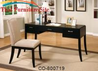 Jamesburg Contemporary Table Desk and Chair Set by Coaster Furniture