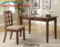 Desks Wood Table Desk with Two Drawers & Desk Chair by Coaster Furniture