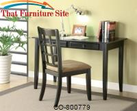 Desks Table Desk with Two Drawers & Desk Chair by Coaster Furniture