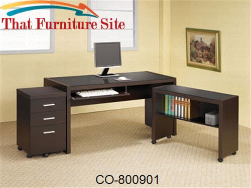 Papineau Computer Desk with Keyboard Drawer by Coaster Furniture  | Au