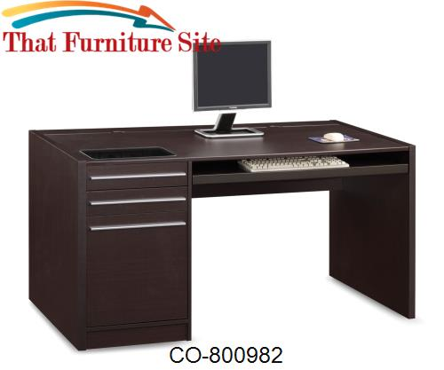Ontario Single Pedestal Desk by Coaster Furniture  | Austin
