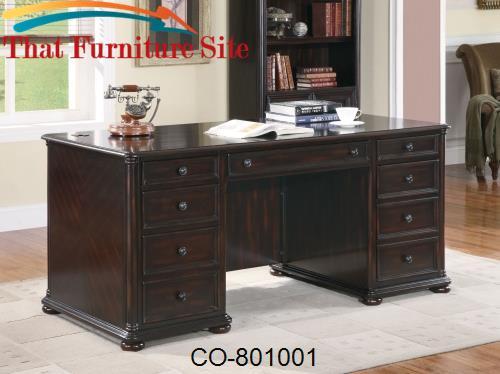 Scotland Double Pedestal Desk By Coaster Furniture Austin