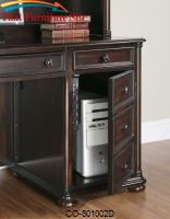 Scotland Kneehole Credenza with Hidden CPU Storage by Coaster Furniture