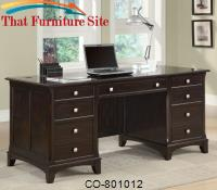 Garson Double Pedestal Desk with 7 Drawers by Coaster Furniture