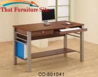 Carmen Rectangular Computer Desk with Footrest & Drawer by Coaster Furniture