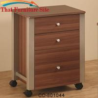 Carmen Mobile File Cart with 3 Drawers by Coaster Furniture