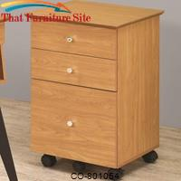 Lori Contemporary Four Wheel Mobile Cart with Three Drawers by Coaster Furniture
