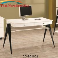 Lori Contemporary Two Drawer Computer Desk by Coaster Furniture