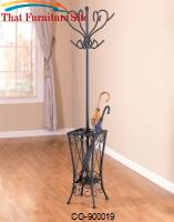 Coat Racks Black Coat Rack with Umbrella Stand by Coaster Furniture