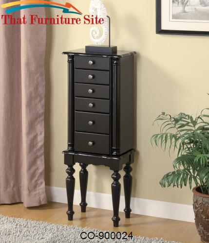Jewelry Armoires Black Jewelry Armoire by Coaster Furniture  | Austin