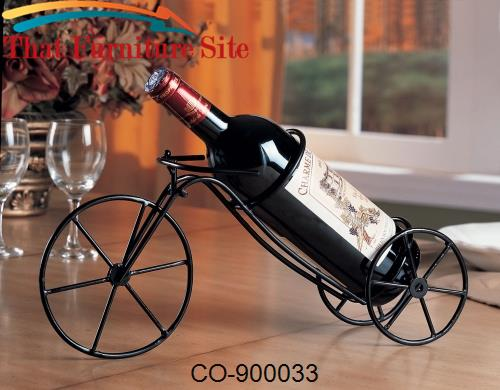Accent Racks Black Bicycle Wine Rack by Coaster Furniture  | Austin
