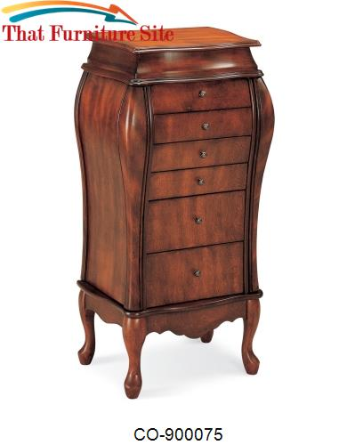 Jewelry Armoires Elegant Jewelry Armoire with 6 Drawers by Coaster Fur