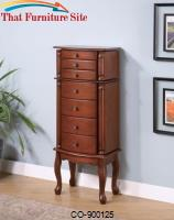 Jewelry Armoires Jewelry Armoire with Antiqued Hardware by Coaster Furniture