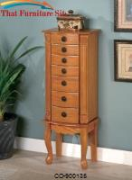 Jewelry Armoires Classic Oak Jewelry Armoire by Coaster Furniture