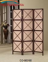 Three Panel Cappuccino / Deep Brown  Folding Screen by Coaster Furniture