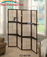 Cappuccino / Deep Brown Finish  Folding Screen With Four Panels by Coaster Furniture
