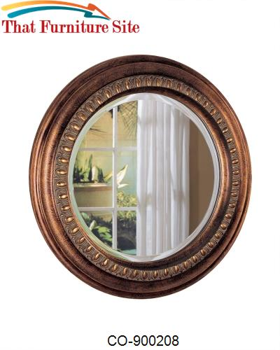 Accent Mirrors Beveled Round Mirror by Coaster Furniture  | Austin