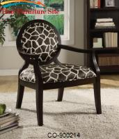 Accent Seating Louis Style Animal Print Accent Chair by Coaster Furniture
