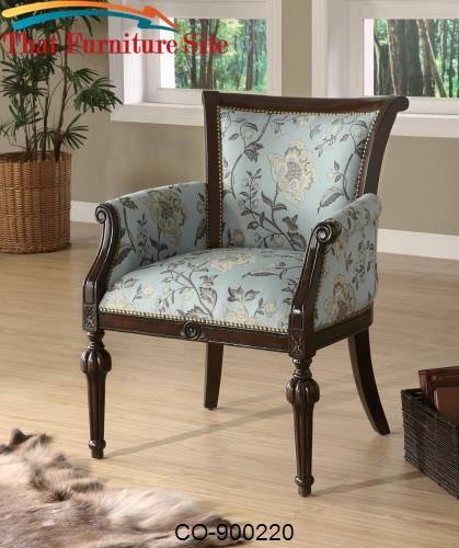 Accent Seating Elegant Exposed Wood Chair by Coaster Furniture  | Aust