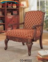 Accent Seating Upholstered Chair with Wood Armrests by Coaster Furniture
