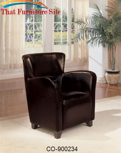 Brown High Back Chair by Coaster Furniture  | Austin