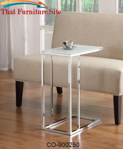 Frosted Glass Snack Table by Coaster Furniture  | Austin