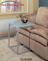 Accent Tables Frosted Glass Top Snack Table by Coaster Furniture