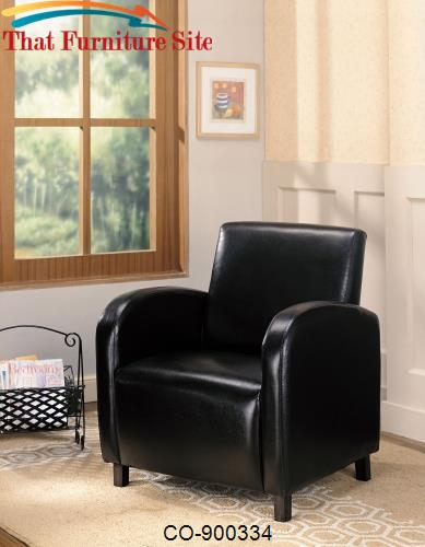 Accent Seating Vinyl Upholstered Arm Chair by Coaster Furniture  | Aus