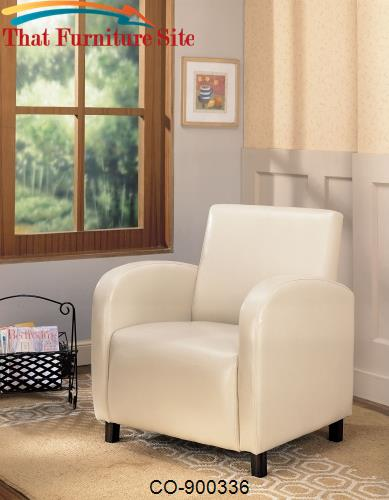 Accent Seating Vinyl Upholstered Arm Chair *D by Coaster Furniture  |