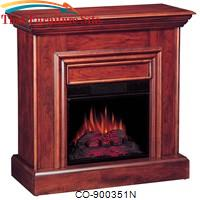 Fireplaces Cherry Wall Mantel Electric Fireplace by Coaster Furniture