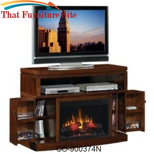 Fireplaces Mahogany Media Mantel Electric Fireplace By Coaster Furnitu