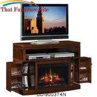Fireplaces Mahogany Media Mantel Electric Fireplace by Coaster Furniture