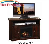 Fireplaces Midnight Cherry Media Mantel Electric Fireplace by Coaster Furniture