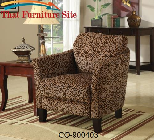 Accent Seating Jungle Accent Chair w/ Plush Seating by Coaster Furnitu