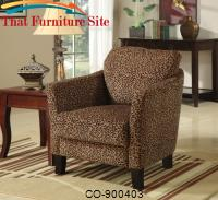 Accent Seating Jungle Accent Chair w/ Plush Seating by Coaster Furniture