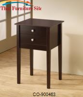 Accent Tables Cappuccino Accent Table with 2 Drawers by Coaster Furniture