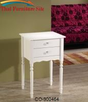 Accent Tables White Accent Table with 2 Drawers by Coaster Furniture