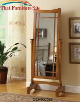 Accent Mirrors Mission Style Cheval Mirror by Coaster Furniture