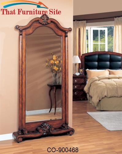 Accent Mirror In Warm Brown by Coaster Furniture  | Austin