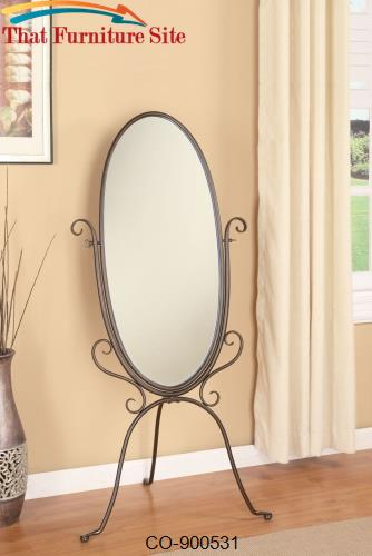 Accent Mirrors Metal Cheval Mirror by Coaster Furniture  | Austin