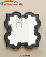 Accent Mirrors Black Quatrefoil Mirror by Coaster Furniture