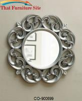 Accent Mirrors Ornate Round Mirror by Coaster Furniture